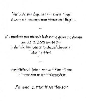 kunz-kunst.de – kalligraphie und schrift-künstlerin charlotte kunz, Einladungen